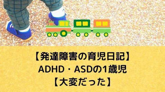 【発達障害の育児日記】ADHD・ASDの1歳児【大変だった】